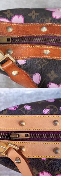 Louis Vuitton Vachetta Leather Restoration Close-up