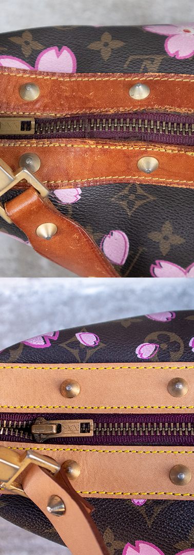 Louis Vuitton Vachetta Leather Restoration Close-up