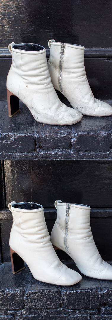 White High Heel Boot Restoration