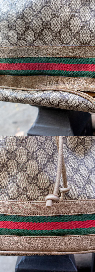 Gucci Purse Leather Restoration Close-up