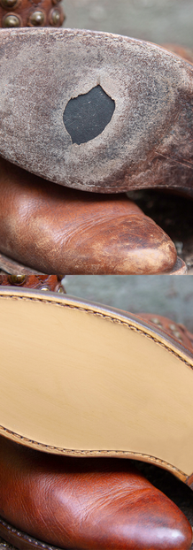 Frye Cowboy Boots: Full Sole & Heel