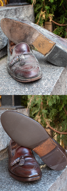 Brown Loafer Sole & Heel Guards