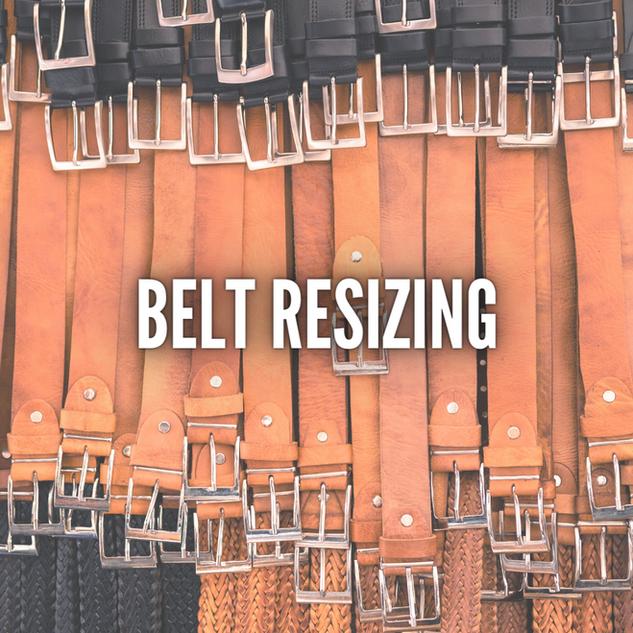 BELT RESIZING