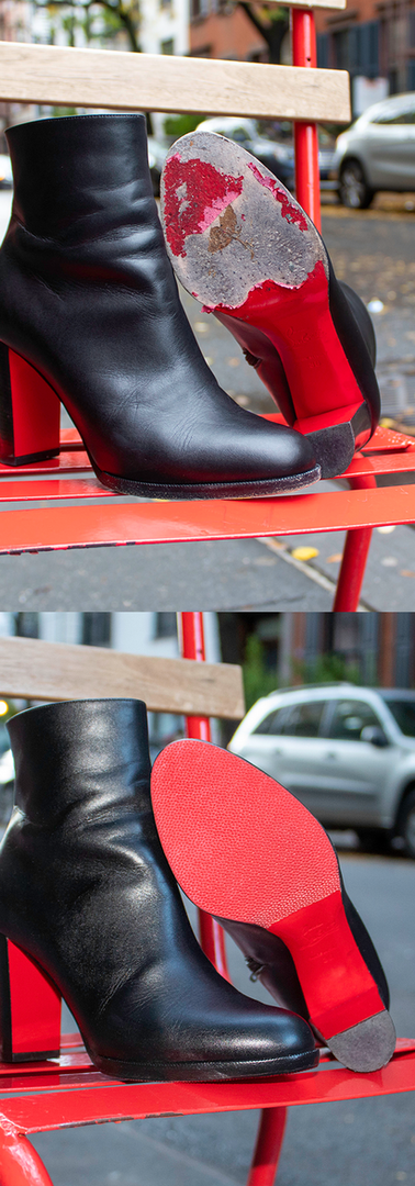 Louboutin Boots: Red Vibram Sole Guards