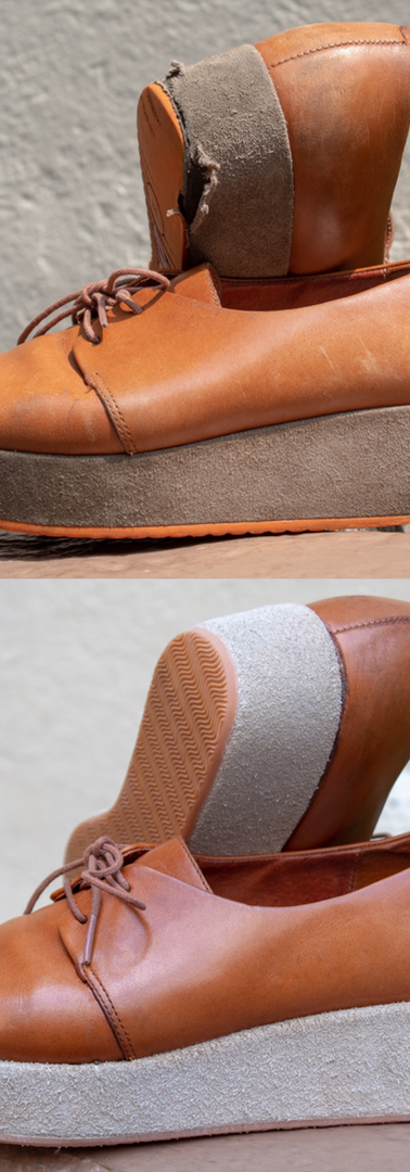 Camper Wedges: Full Rubber Sole & New Suede Lining Restoration