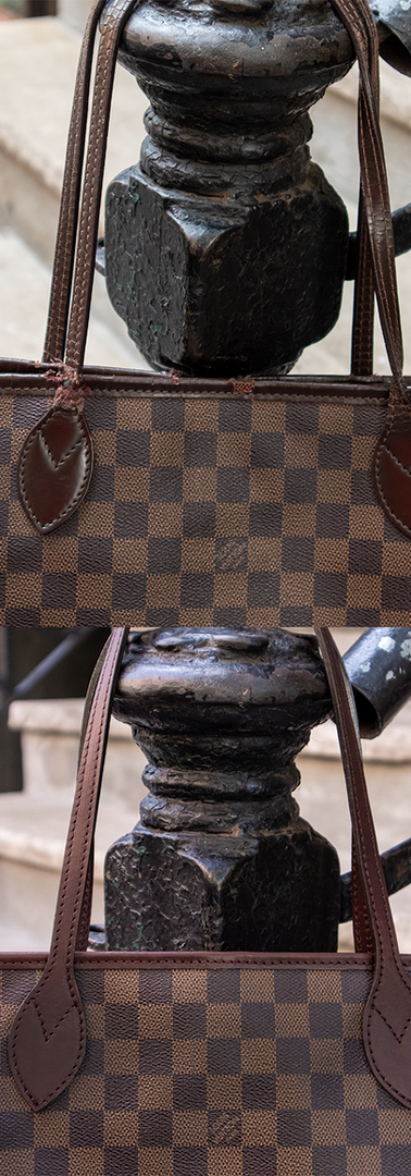 Louis Vuitton Neverfull Vachetta Leather Restoration