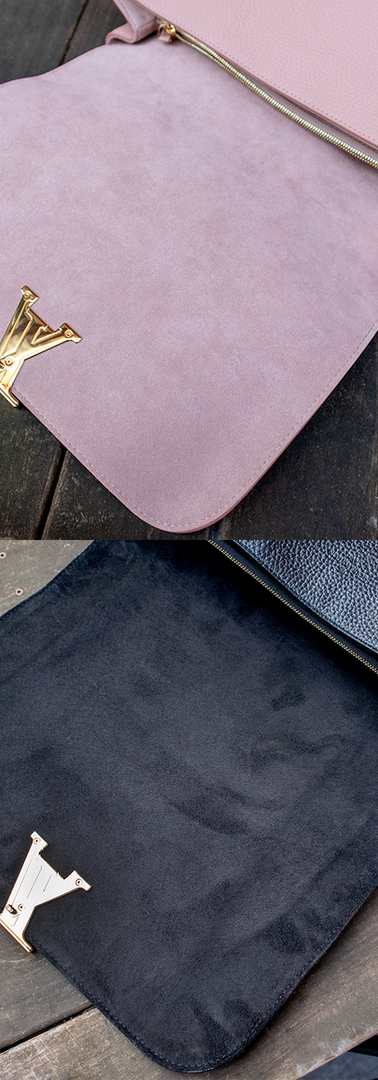 Louis Vuitton Lining Replacement (Pink Suede to Black Suede)