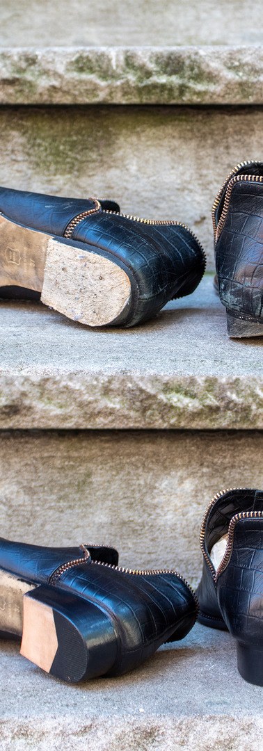 Custom Heel Restoration and Sole Guard