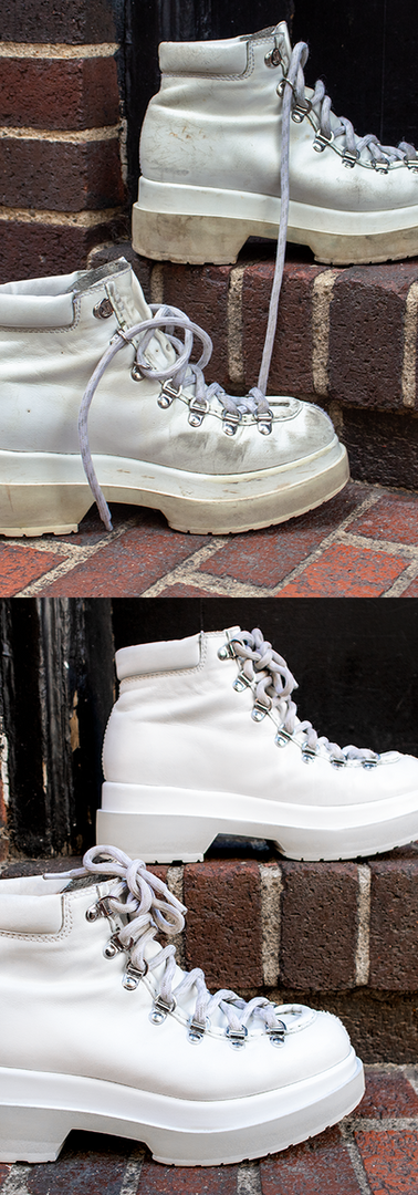 White Painted Boot Restoration