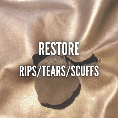 RESTORING RIPS, TEARS, & SCUFFS