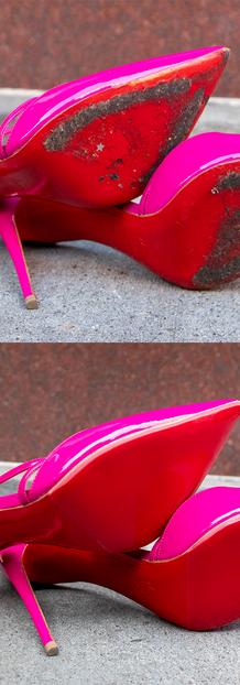 Louboutin Red Mirror Sole Restoration