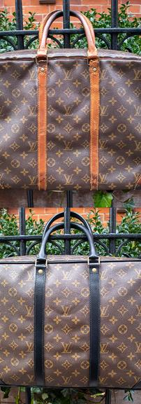 Louis Vuitton Leather Restoration (Color Change to Black)