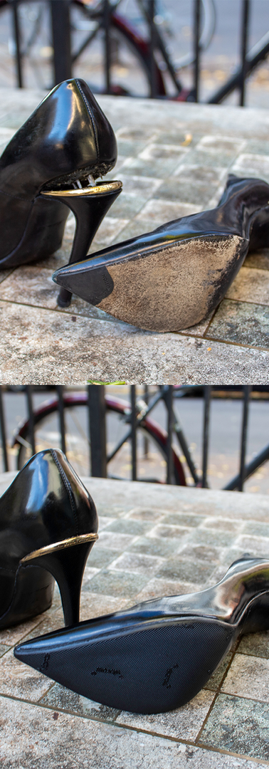 Louis Vuitton High Heels: Heel Base Repair