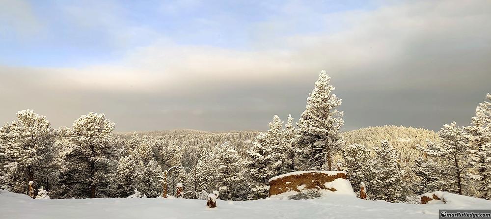 Snowy Mountaintop in Colorado