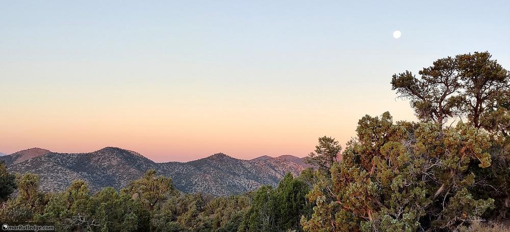 Full Moon at Sunrise in Nevada