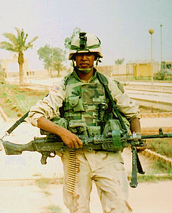 Omar Rutledge in Iraq