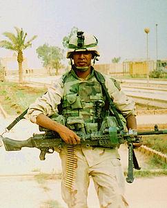 Omar Rutledge in Iraq