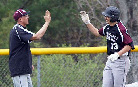 CP-Burke-after-HR-Stafford-High-five-from-coach-Brisco-for-Ethan-Burkes-home-run