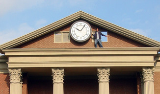 Back to the Future clocktower Universal Backlot  2002