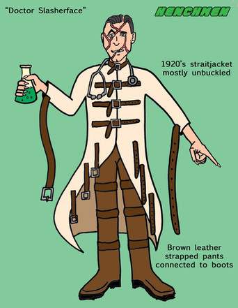 Doctor Slasherface character sheet