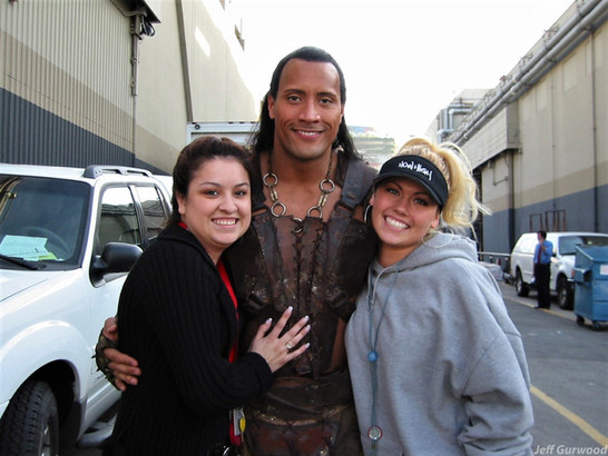 The Rock With fans 2002