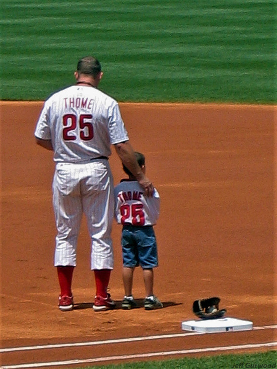 Philly Sports Jim Thome and a Fan 2004