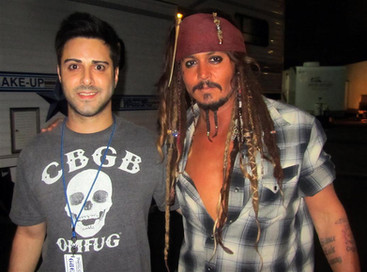 Johnny Depp Pirates 4 set Universal Backlot
