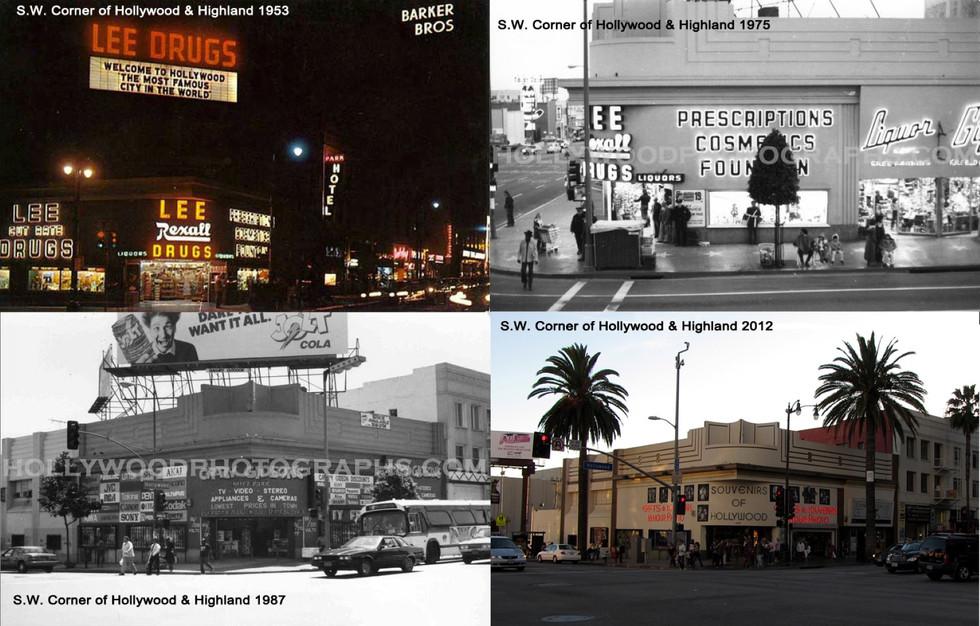 SW corner Hollywood & Highland 1953 - 2012