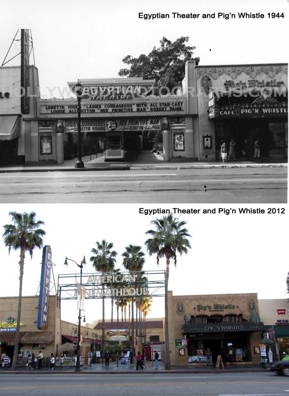 Egyptian & Pig n Whistle 1944 & 2012