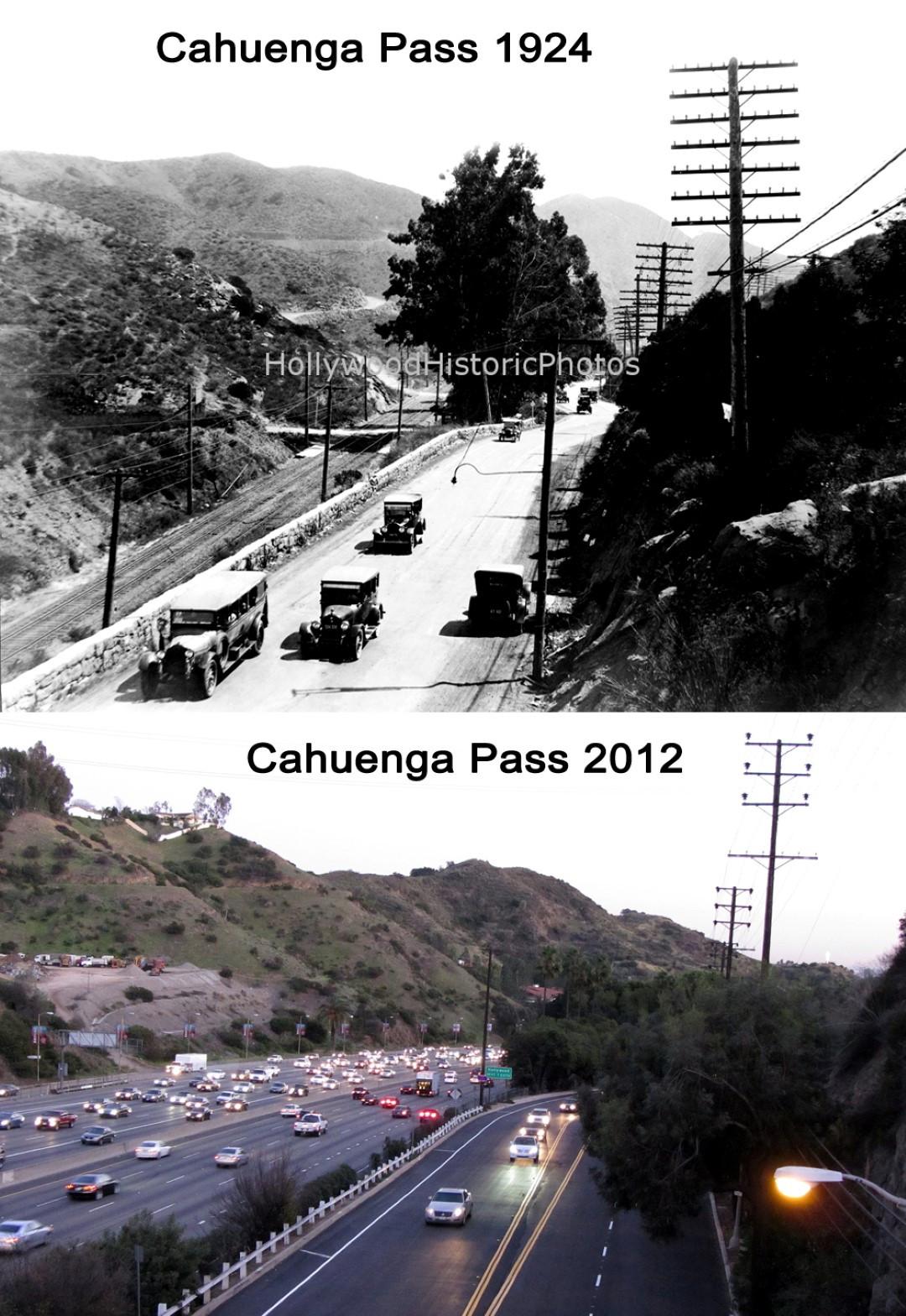 Cahuenga Pass 1924 & 2012