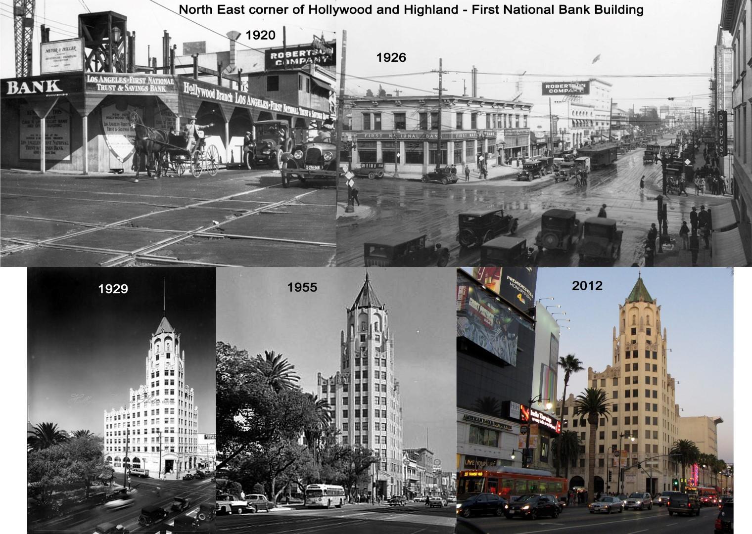 NE Corner Hollywood and Highland 1920 - 2012