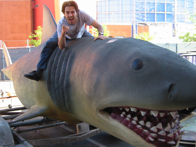 Jaws 2002 Riding Bruce Universal backlot