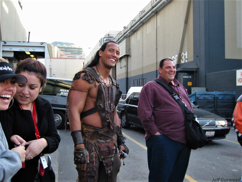 The Rock as Scorpion King 2002