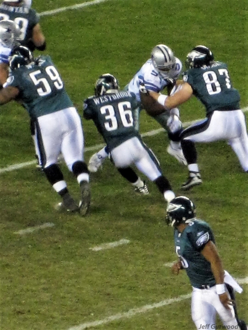 Philly Sports Brian Westbrook Eagles game 2008