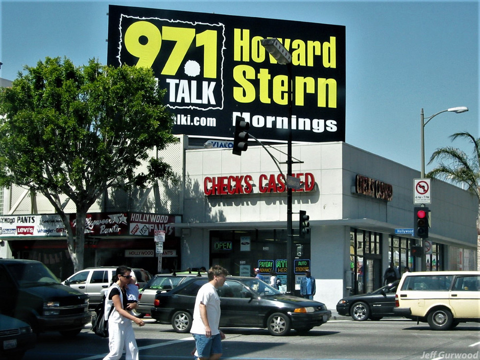 Billboard at Hollywood and Cahuenga 2002