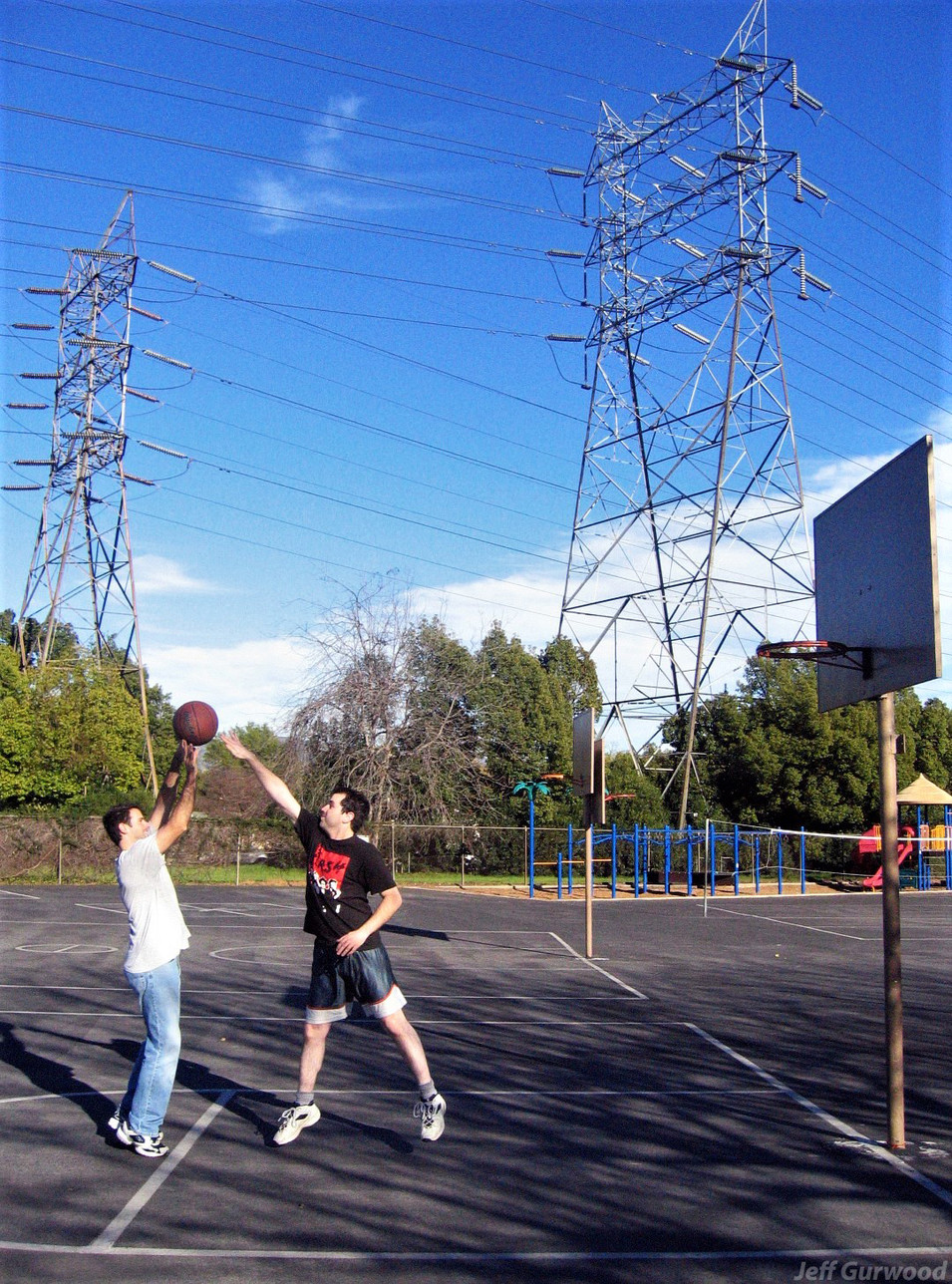 B Ball Outside the School 2005
