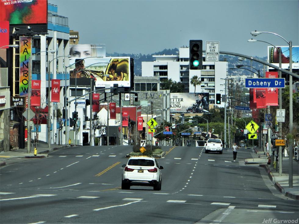 Hollywood Quarantine 3-31-20 Sunset and Doheny