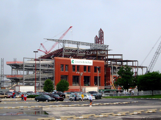 Philly Sports Citizen's bank park Construction (5) 2003