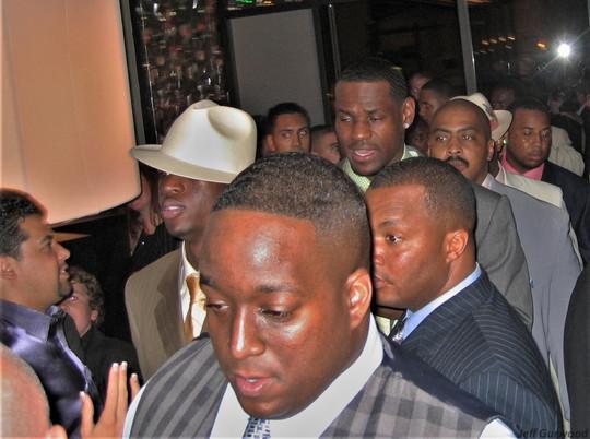 Lebron James and Dwayne Wade ESPY Awards after party 7-13-05