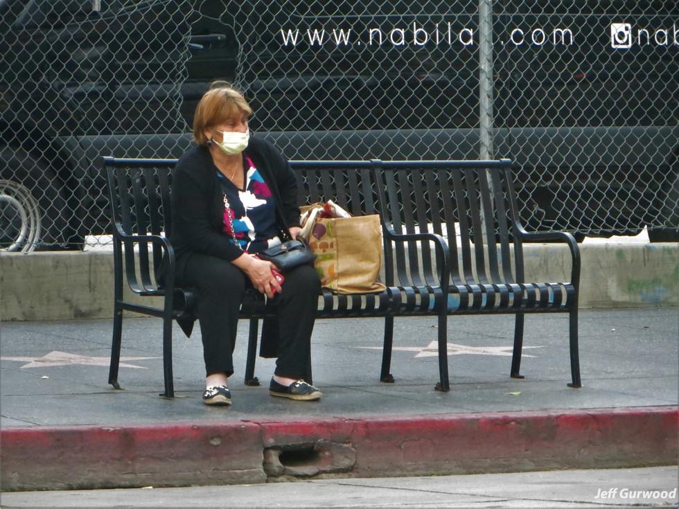 Hollywood Quarantine 3-31-20 Masked Woman