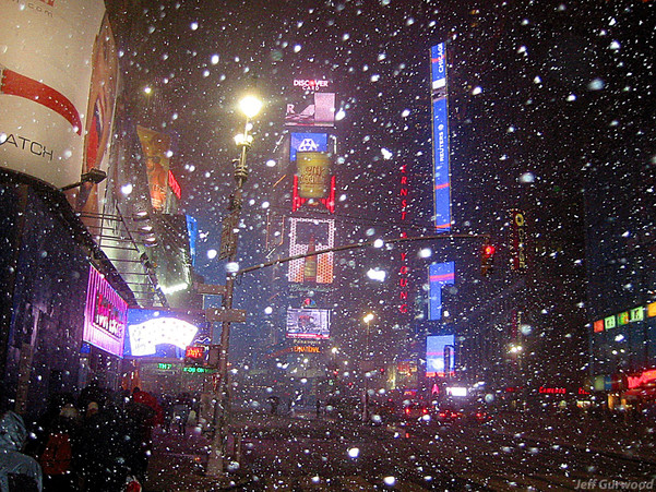 Times Square Christmas Day 2002