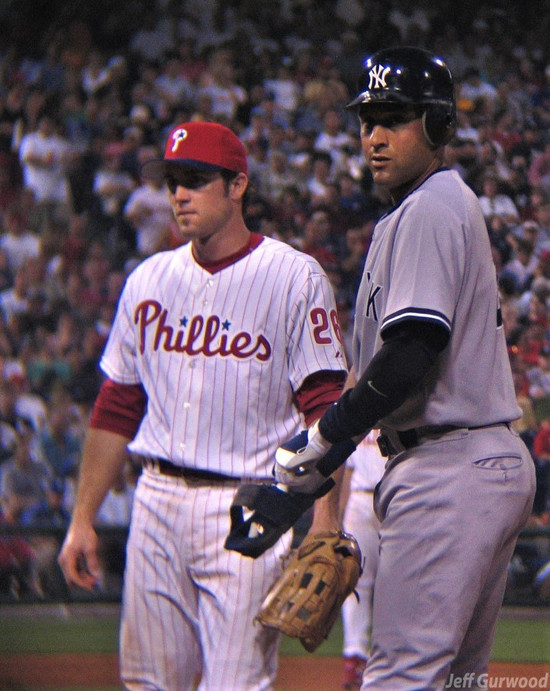Philly Sports Chase Utley and Derek Jeter 2006
