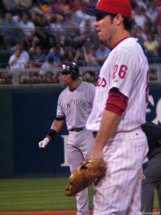 Philly Sports Chase Utley and Alex Rodriguez 2006