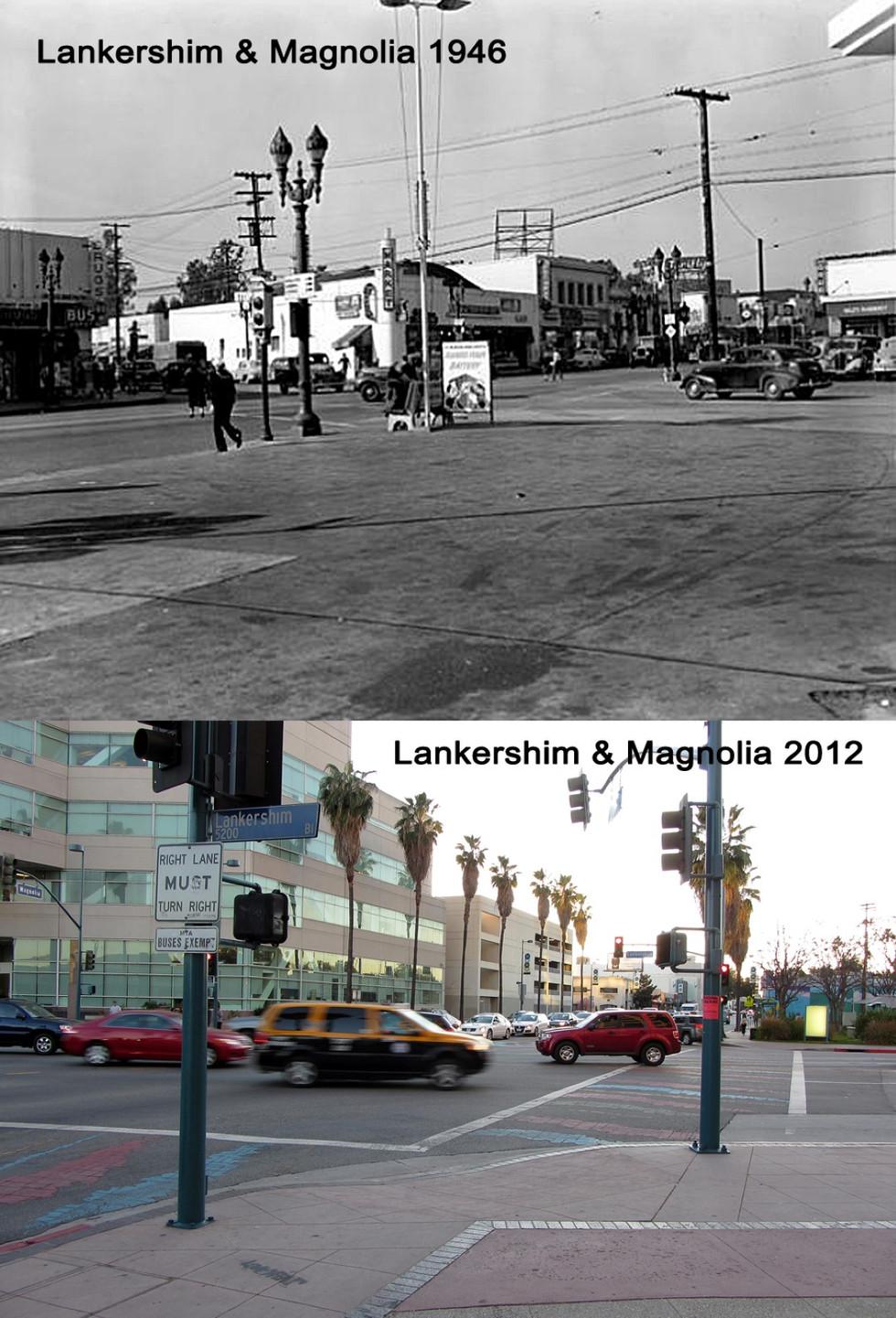 Lankershim & Magnolia 1946 & 2012