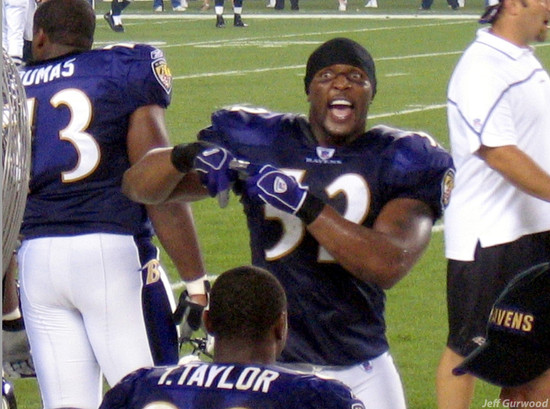 Eagles Ravens game 2004 Ray Lewis is Mad