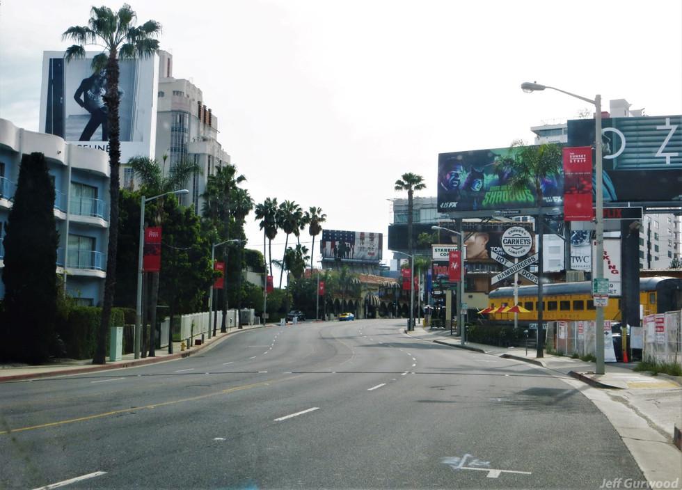 Hollywood Quarantine 3-31-20 Vacant Sunset Strip
