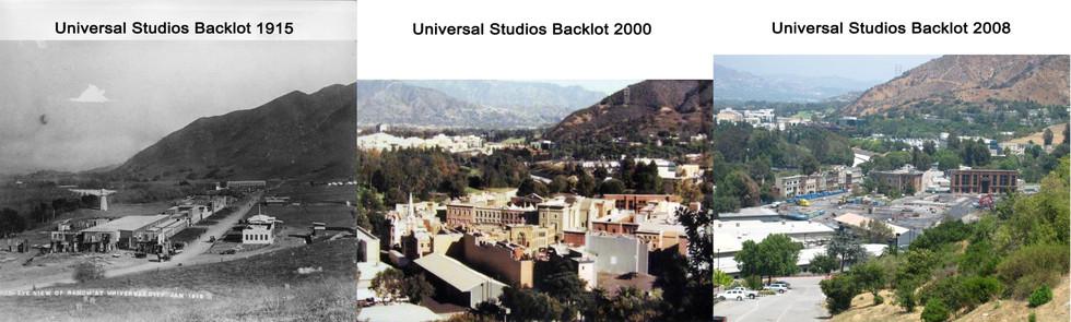Universal backlot 1915 & 2000 & 2008