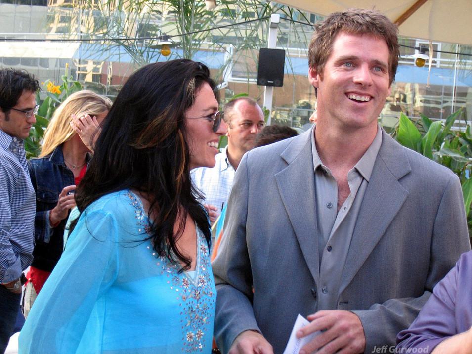 Ben Browder and Claudia Black Sci Fi Channel Comiccon Party 7-24-04