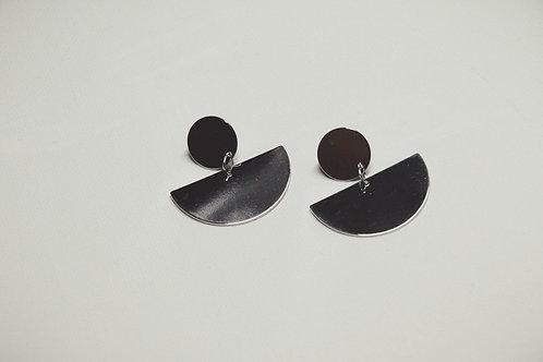 Minimalist Half Moon Drop Earrings