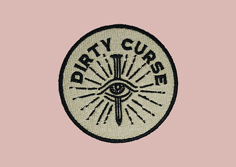 DIRTY CURSE LOGO EMBROIDERED PATCH